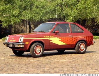Gm Electrovette Electric Version Of The Chevy Chevette