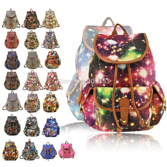 Barato Chegada nova Ladies Anna Smith lona Retro Backpack mochila Girls School HEC Shoulder Hand Bag grátis frete QQ1626 1, Compro Qualidade Bolsas Casuais para o Dia diretamente de fornecedores da China: