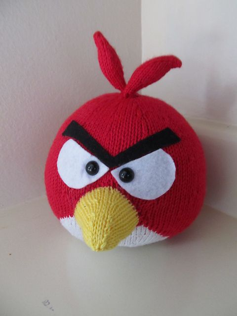 Parrot Knitting Pattern Free : Angry birds, Birds and Amigurumi on Pinterest