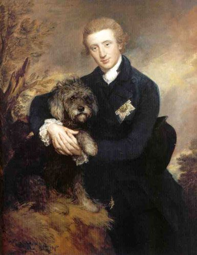 Duke of Buccleuch with his dog by Gainsborough, 1770: