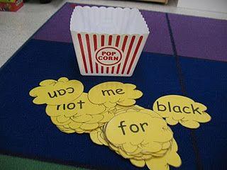 Popcorn Word Activities