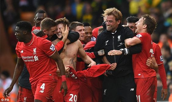 The goal sparked emotional celebrations, with Liverpool boss Jurgen Klopp's glasses gettin...