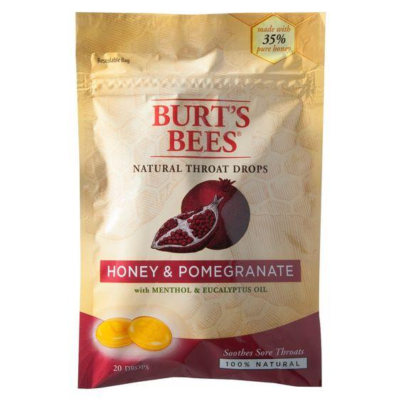 Burt's Bees Natural Throat Drops Honey