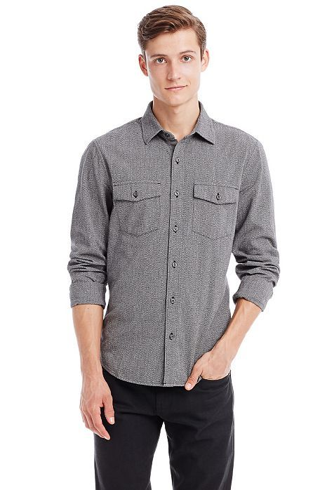 Scatterweave Shirt - Shirts - Mens - Armani Exchange