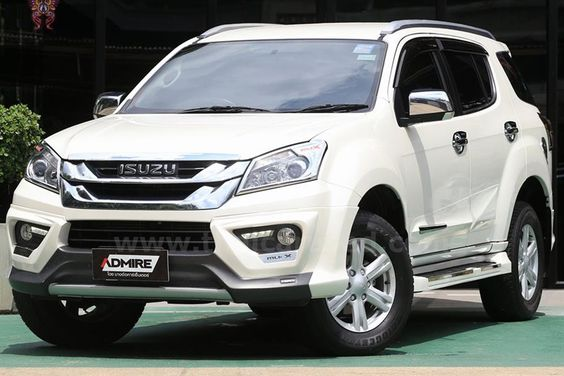 2017 Isuzu MUX white color design pictures  Automotive Latest