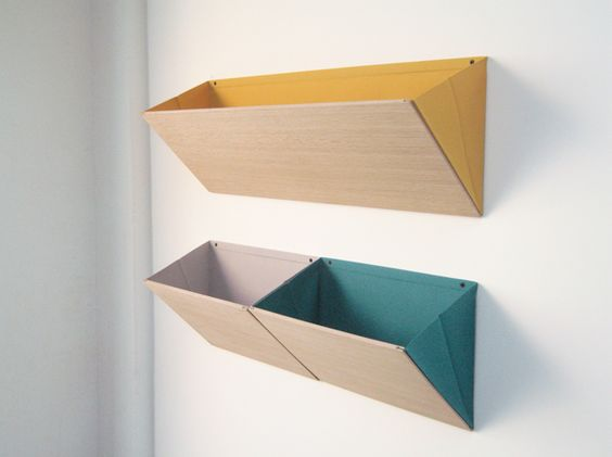 LEANING - a series of low space consuming storage | Designer: diane steverlynck - http://www.dianesteverlynck.be | Materials: Wood, Polyester textile, metal