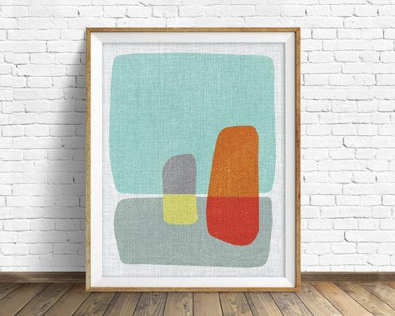 Mid Century Modern Art Mid Century Modern Wall Art Large Art Printable Art Instant Download Large Wall Art Abst Cuadro De Flores Abstracto Arte Abstracto