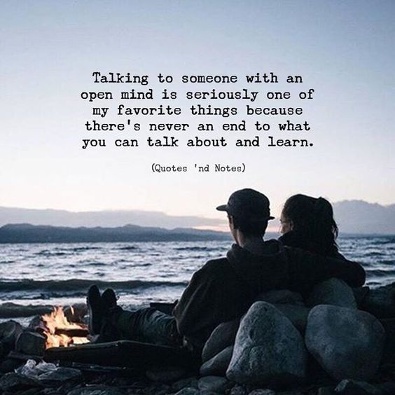Talking to someone with an open mind is seriously one of my favorite things because theres never an end to what you can talk about and learn. via (http://ift.tt/2G0RniL)