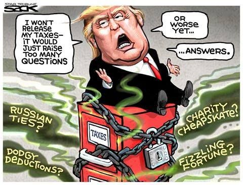 MORE questions than there already are? Yeah right... - http://holesinthefoam.us/trumpwontreleasetaxes/