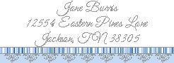 Blue Prince Label for Return address or shower favors