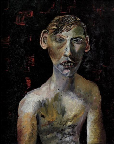 Evacuee boy. Lucien Freud