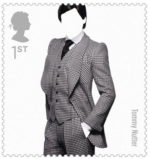 Great British Fashion Stamps: Tommy Nutter, via Fashionologie