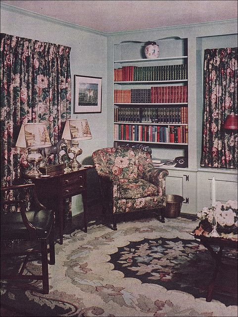 1949 Minty Fresh Colonial Living Room by American Vintage Home, via Flickr:
