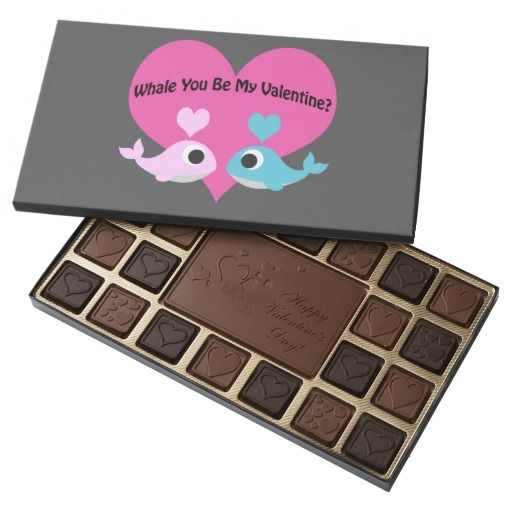 Whale You Be My Valentine? 45 Piece Assorted Chocolate Box