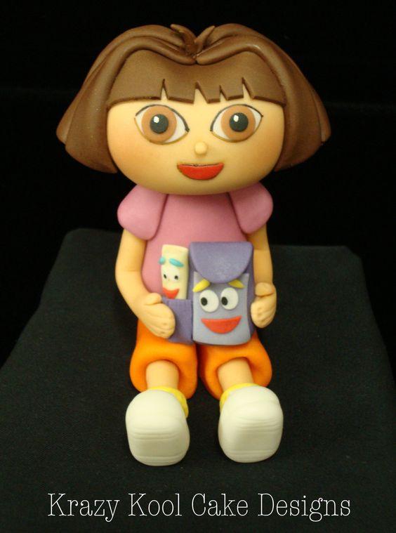 Dora The Explorer Cake Topper. $65.00, via Etsy.