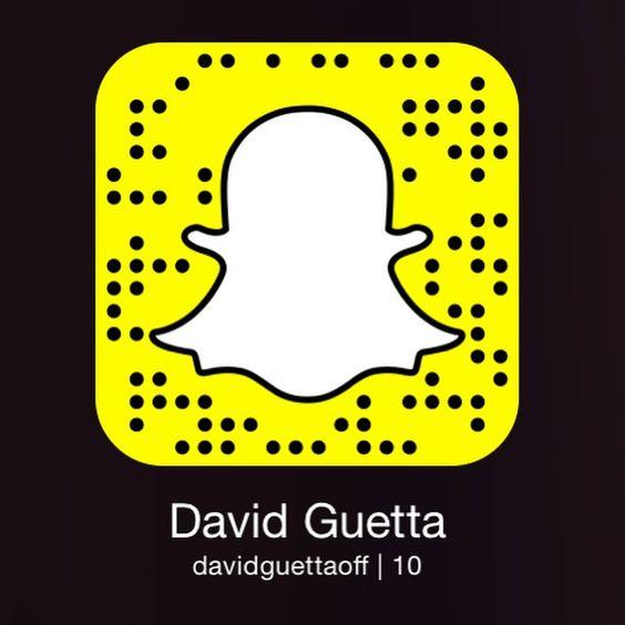 25 Célébrités Françaises à Suivre Sur Snapchat David Guetta: davidguettaoff