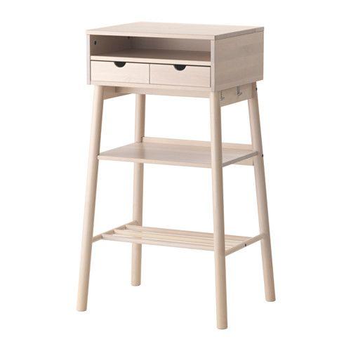 KNOTTEN Bureau debout IKEA Compartiments de différentes tailles conçus pour le rangement d'objets comme des sacs ou des ordinateurs portables.