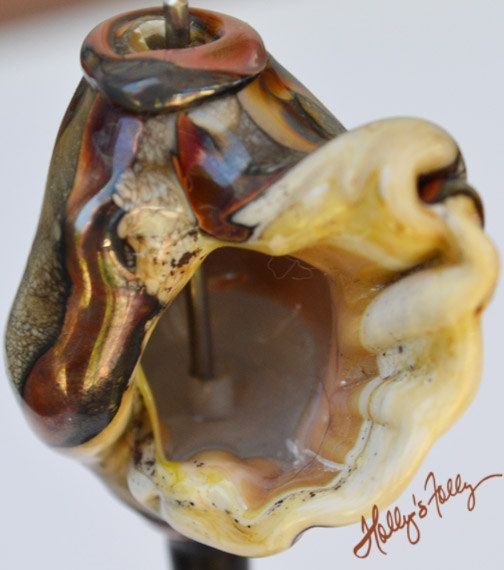 Hollow sculpted glass bead seashell by HollysFollyGlass on Etsy, $39.00