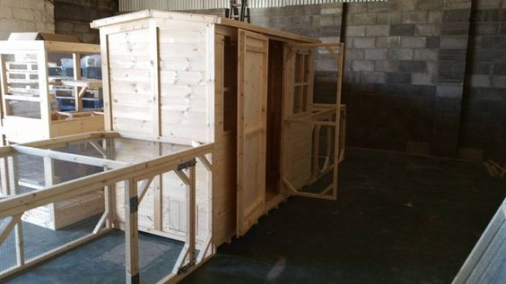 Side View of The Rabbit Run and Rabbit Shed. Handmade By Boyles Pet Housing