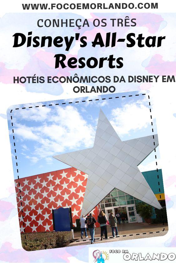 Conheça os três Disney's All-Star Resorts em Orlando