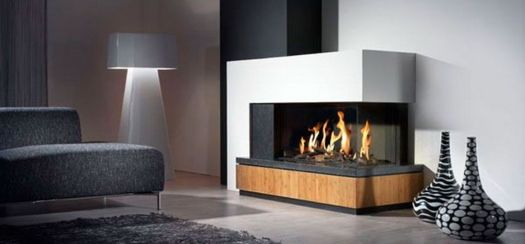 awesome modern fireplace in the middle of the living room - Modern - designer mobel aus holz joyau bilder