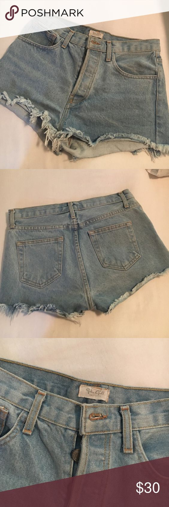 FLASH SALEbrandy Melville distressed jean shorts Amazing brandy Melville John Galt blue distressed denim Jean shorts!  I love them so much but they are a little big for me around the waist Brandy Melville Shorts Jean Shorts