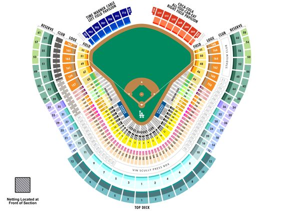 Dodgers Seating Map Mlb Com