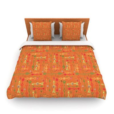 KESS InHouse Vintage Arrows by Jane Smith Featherweight Duvet Cover Size: