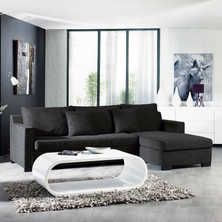 Milan corner sofa bed with storage right hand grey