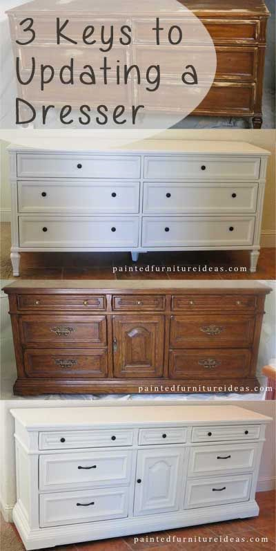 3 Keys to updating a dresser.: