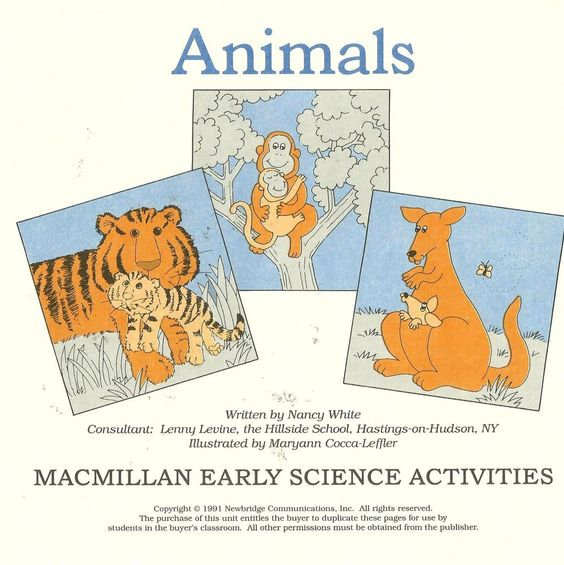 Animals MacMillan Early Science Activities Work Sheet Habits Kingdom Living  #MacMillan #WorkSheets