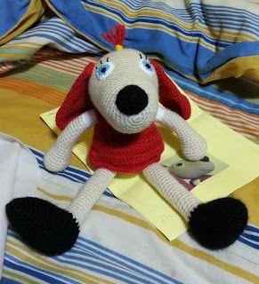Teia de Carinhos: Cachorrinha - Lotte from Dadgetville