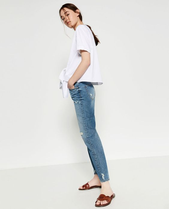 MOM FIT HIGH-WAISTED TROUSERS-View All-JEANS-WOMAN | ZARA United Kingdom