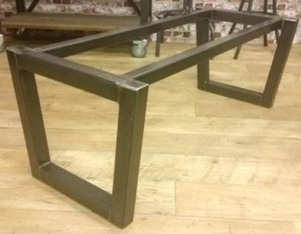 steel table base glass top table