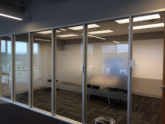 Window film added for visual interest at MaxPoint in Morrisville, NC