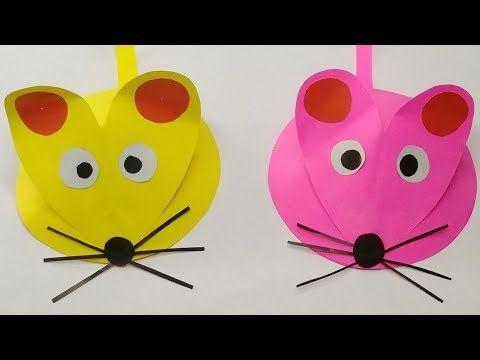 Mainan Tikus Lucu Dari Kertas Origami Kerajinan Tangan Untuk