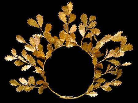 // hellenistic gold oak crown