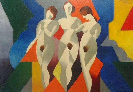 René Magritte(1898ー1967)「Femmes(女たち)」(1922)