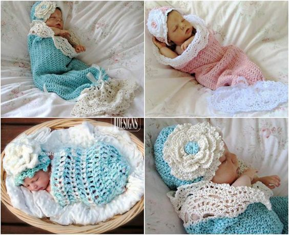 Baby Egg Cocoon Crochet Pattern Free : Knitted Bell Flower Cocoon Pattern Crochet baby, Baby ...