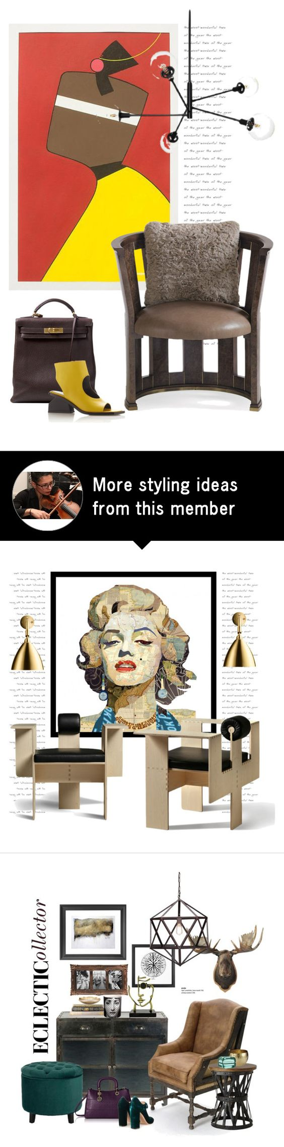 """Burl-Esque chair..."" by gloriettequartet on Polyvore featuring interior, interiors, interior design, home, home decor, interior decorating, NOVICA, Hermès and Marni"