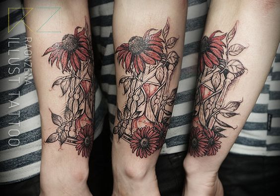 sandglass tattoo  by. RAONZENA tattoo www.raonzena.co.kr