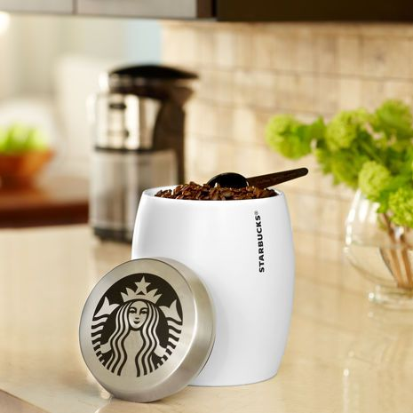 I do love my Starbucks®!! This has to replace my old Starbucks canister; which I don't use anymore because I am a Keurig user. So glad Starbucks finally makes K-Cups! :-) Yay!    Starbucks® Coffee Canister. $24.95 at StarbucksStore.com