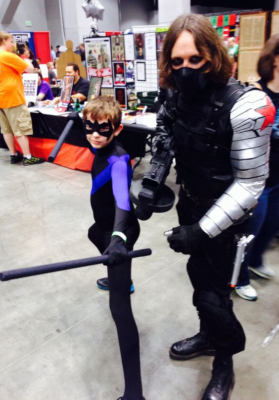 Nightwing and the Winter Soldier at Cincinnati Comic Expo 2014.