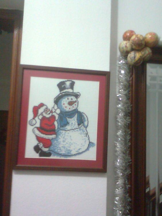 Natal - boneco de neve (feito por mim)