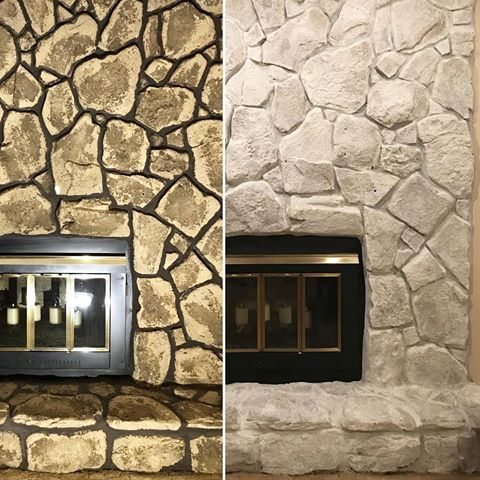 From Classicfinishes Stone Fireplace Update With Romabiopaints