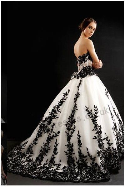 Black Wedding Dress With Train : White wedding dresses weddings and black on