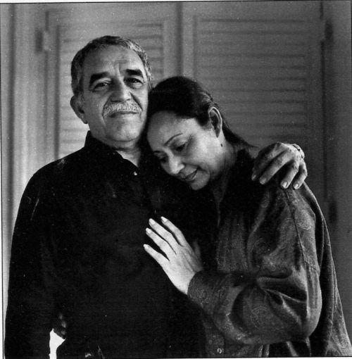 Gabriel Garcia Marquez and his wife Mercedes. Havana,1987 by Helmut Newton.: