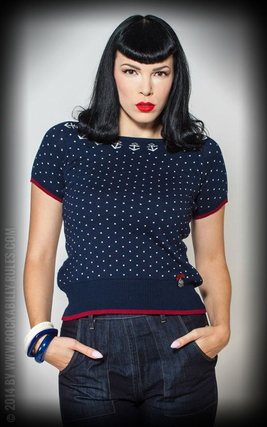Rumble59 Ladies Pullover - Ahoi Sailor! #rumble59 #vintage #rockabilly