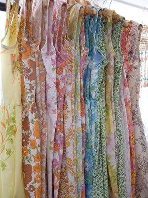 Beautiful dresses made from vintage sheets!