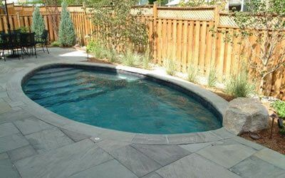 An Ideal Pool For Small Yards It Delivers Big Performance For Swimming Exercising And Just Relaxing Opti Small Pool Design Small Inground Pool Small Pools
